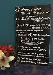wedding vows wood sign i choose you marriage sign Wedding Vows Plaque like this item? wedding vow plaque
