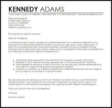 Cover Letter Example For Real Estate Assistant Real Estate Cover