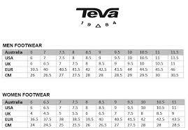 Teva Toddler Size Chart Teva Shoe Size Chart Www Bedowntowndaytona Com