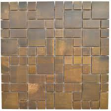copper mosaic tile cobble pattern antique copper mosaic tile