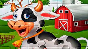 <b>Корова на ферме</b> собираем <b>пазлы</b> для детей - <b>пазлы</b> для ...