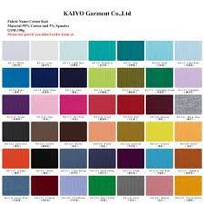 Color Chart For Clothes Kaiyo All Color Chart Fabric Buy Baby Seersucker Shorts Baby Shorts Cotton Newborn Baby Clothing Product On Alibaba Com