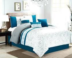 orange and blue comforter bedding piece flora print teal gray ivory set navy