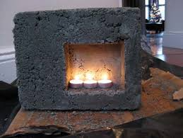 Mini Fireplace Concrete TestMini Fireplace