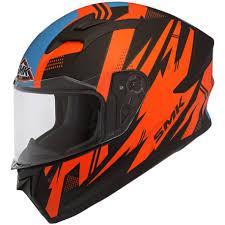 Smk Stellar Trek Matt Black Orange Helmet
