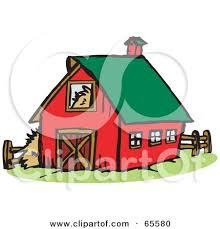 farm barn clip art. Royalty-Free (RF) Clipart Illustration Of A Red Farm Barn With Green Roof By Dennis Holmes Designs Clip Art B