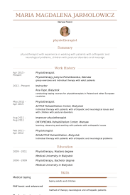 Physiotherapist Resume samples