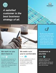 How To Make A Business Flyer Sectional Business Flyer