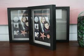how to use a shadow box to display keepsakes