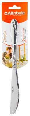 Сколько стоит <b>Attribute Набор столовых ножей</b> Chaplet 2 ...