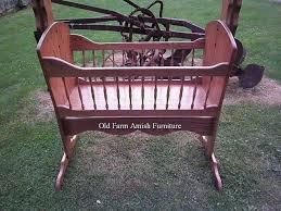 custom made solid oak rocking baby cradle
