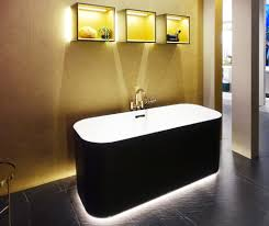 lifted not only villeroy boch seems to float the bathtub by under floor lighting