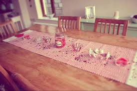 Decorations : Valentine\u0027s Day With Beautiful Table Runner Handmade ...