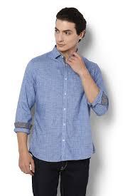 Van Heusen Sport Shirts Van Heusen Blue Shirt For Men At Vanheusenindia Com