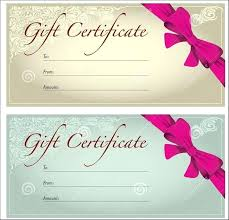 Gift Voucher Template Free Download Custom Office Certificate Templates Free Health Beauty Gift Word Publisher