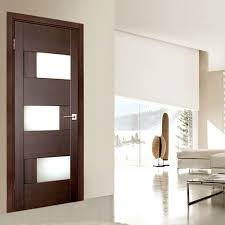 aries modern interior door with glass panels 2