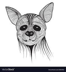 Hyena Animal Sketch Tattoo Symbol