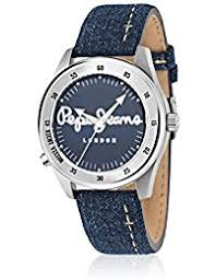 amazon co uk pepe jeans watches pepe jeans men s watch disco tech analogue quartz leather r2351118003