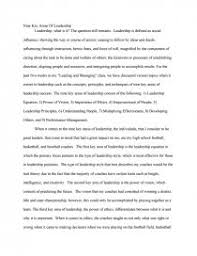 nine key areas of leadership essay zoom zoom zoom