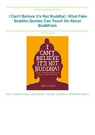 Pdf I Cant Believe Its Not Buddha What Fake Buddha Quotes Can Tea