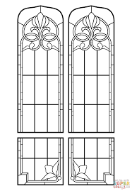 Small Picture Stained Glass Windows coloring page Free Printable Coloring Pages