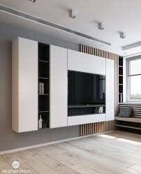 small tv units furniture. from behind the couch a monochromatic panel housing tv and entertainment essentials meets eye light wooden flooring muted grey walls lack of small tv units furniture