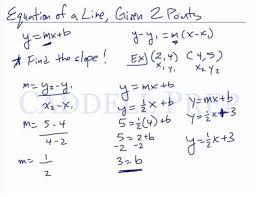 the equation of a line given two points