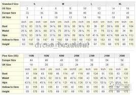 Size Chart Us Uk Eu Comparison Converter Normal Size Plus