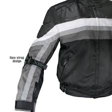 xelement cf330 men s grey leather fabric motorcycle jacket with advanced level 3 armor leatherup com