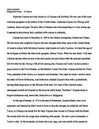 biographical essay al capone gcse english marked by  page 1 zoom in