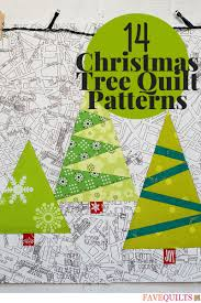 Tree Quilt Patterns Interesting 48 Christmas Tree Quilt Patterns FaveQuilts