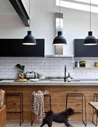 industrial pendant lighting for kitchen. Black Industrial Pendant Lights For Kitchen Design With White Ceramic Backsplash Lighting L