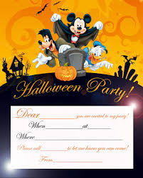 Free Love Quotes Disney Halloween Party Invitation Card Printable