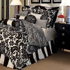 black and cream toile damask bedding set designs