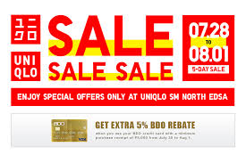 If you already have a citi credit card, you can also check out hsbc credit cards. Uniqlo Philippines S Tweet It S A 5 Day Sale At Uniqlo Sm North Edsa Avail Exclusive Limited Offers On Your Favorite Lifewear Items Enjoy Extra 5 Discount When You Shop Using Your Bdo