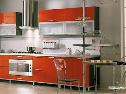 Full Size of Living: Kitchen Cool Small Modular Kitchen Design And  Decoration Using Modern Red ...