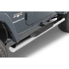 Quadratec QR4 Heavy Duty Oval Side Steps for 07-18 Jeep Wrangler JK ...