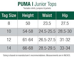 Puma Junior Size Chart Puma Junior 1 2 Zip Wind Jacket Puma Black