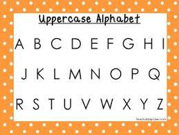 2 Printable Orange Border Alphabet Wall Chart Posters