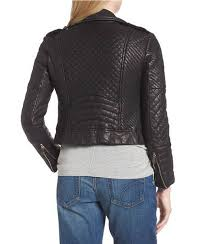 women s black biker quilted jacket