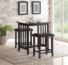 counter height dining table set. Amazon.com - Roundhill Furniture 3-Piece Counter Height Dining Set With Saddleback Stools, Black Table \u0026 Chair Sets