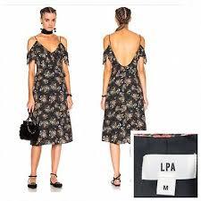 388 Boho Lpa Revolve Black Ditsy 137 Dress Floral Ruffle