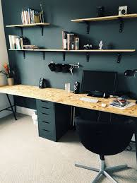 Divine home ikea workspace Pinterest New Home Office With Ikea Drawers And Trestle Legs Osb Wood From Pinterest New Home Office With Ikea Drawers And Trestle Legs Osb Wood From