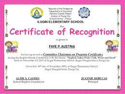 Sample Of Appreciation Certificates Sample Of Certificates Appreciation Template Certificate For