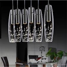 modern luxury led dining room crystal chandelier glass vase bottles light crystal flowers inside bar counter restaurant pendant light pendants lights