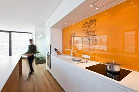 Orange And White Kitchen Marvelous Modern Home With White Domination Designoursign