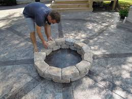 diy patio with fire pit. How To Build A Firepit, Outdoor Living, Patio Diy With Fire Pit G