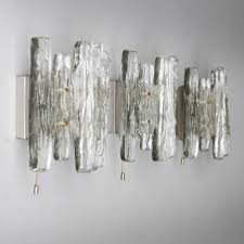three kalmar franken kg ice glass sconces