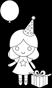 Small Picture Birthday Girl Coloring Page Free Clip Art