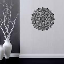 flower wall decal vinyl sticker art decor mandala menhdi om indian hindu buddha wall sticker 57 56cm on mandala wall art nz with wall decals mandala nz buy new wall decals mandala online from